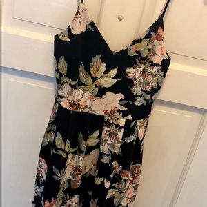 Never Worn Floral Black Skater Dress